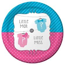baby plates baby gender reveal plates 8 per pack target