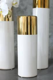 Small Glass Vases Wholesale Small Glass Vases For Flower White Gold 12in Klein Vase Glass