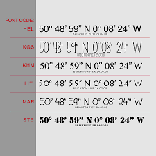 personalised coordinates wall sticker by oakdene designs personalised coordinates wall sticker vertical font selection