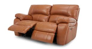 Leather Electric Recliner Chair Reward Leather 2 Seater Electric Recliner Brazil Contrast Dfs