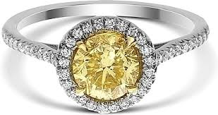 circle engagement ring 1 02ct brilliant cut fancy yellow