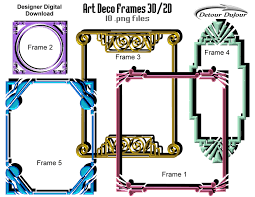 printable art deco borders 5 art deco frames art deco borders digital art deco clip art art
