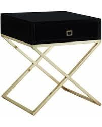 black and gold side table slash prices on viviane x leg side table black top gold frame