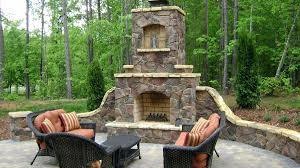 marvelous design of the stone fireplace ideas with grey tile floor