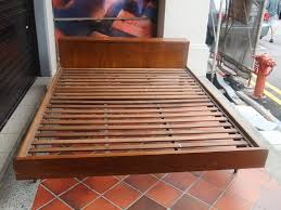bedroom powerful teak bed frame give you the long lasting night