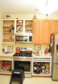 How To Antique Paint Kitchen Cabinets White Painted Oak Kitchen Cabinets Reveal Momhomeguide Com