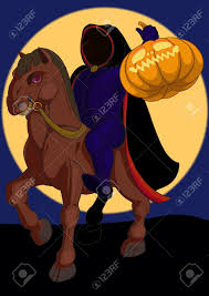 the background of halloween jack o lantern halloween symbol on the horse on the background