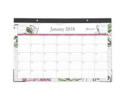 desk pad calendar 2018 amazon com blue sky 2018 monthly desk pad calendar 17 x 11
