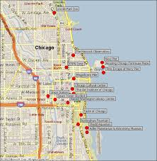 chicago tourist map downtown chicago attractions map
