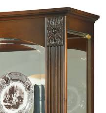 Antique Curio Cabinet With Clock Curio Cabinets Traditional Display Curio Cabinets Three