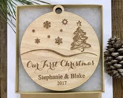 our christmas ornament winter wedding gift etsy