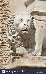 marble lion beautiful marble lion statue of a lion in the center of