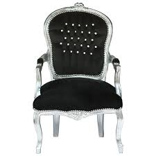 dining room chair luxurious black velvet cushions silver wood