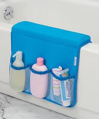 this blue bath tub saddle storage caddy by interdesign is perfect