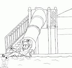 hiking coloring page water slide coloring pages for kids and for