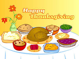 feast clipart thanksgiving table pencil and in color feast