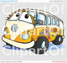volkswagen hippie van clipart royalty free rf clipart illustration of a beige and orange