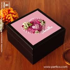 Girls Personalized Jewelry Box Our Flower Personalized Keepsake Box Geoff And Andrea