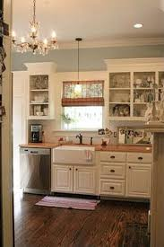 Cottage Kitchen Ideas This Entire Kitchen Farm House Sink Open Shelving White