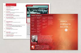 modern church bulletin brochure template inkd