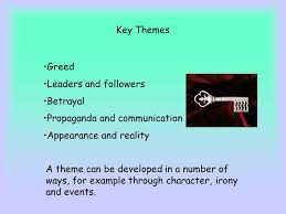 betrayal themes in literature sk animal farm by george orwell key themes greed leaders and