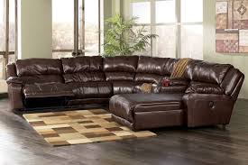 furniture nice leather sectional sofa with recliners and chaise
