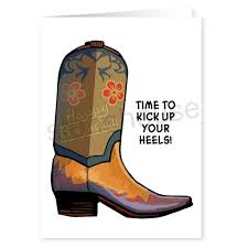 stonehouse collection western cowboy boot birthday card