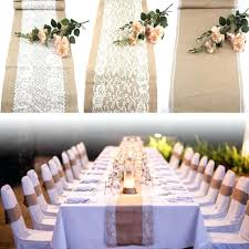 wedding table runners vintage natural burlap lace hessian runner