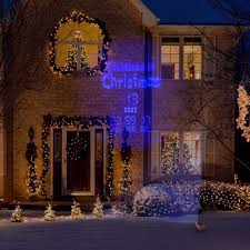 Outdoor Projector Christmas Lights by Outdoor Homes Holiday Decor Blue Led Light Christmas Countdown