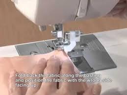 Machine Blind Stitch Brother Domestic Sewing Machine Blind Stitch Hemming Foot Tutorial