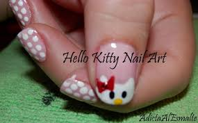 tutorial diseño de uñas de hello kitty paso a paso hello kitty
