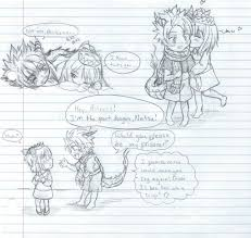nalu baby dragon and the tiny princess doddles by inubaki on