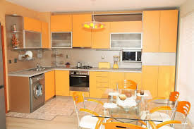 kitchen design decor stylish orange kitchen designs for a lighter look chic modern