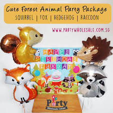 balloons wholesale woodland forest animal balloons party wholesale centre