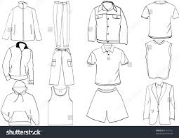clothes template collection stock vector 31107751 shutterstock