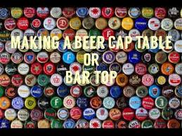 beer cap table top how to make a beer cap table or bar top youtube
