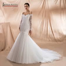 wedding dresses in mermaid wedding dress 2018 lace with beading bridal