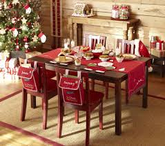 Dining Room Table Runners Awesome Christmas Table Decor Ideas Maroon Black Plaid Table