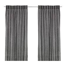 Black Linen Curtains Ikea 100 Linen Curtains Drapes U0026 Valances Ebay