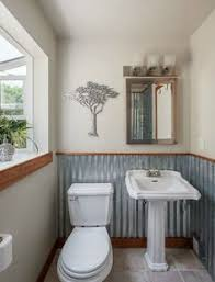 garage bathroom ideas corrugated metal wainscoting in the laundry room metal