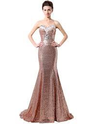 clearbridal women u0027s rose gold sequies bridesmaid dress sweetheart
