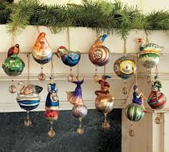 Pics Of Christmas Ornaments - twelve days of christmas ornaments set of 12 pottery barn