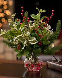 decorations holly u0026 berry silk flower arrangement for christmas
