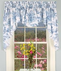Kitchen Curtains Swags by Lenoxdale Toile Swag For Over Farmhouse Kitchen Sink And Window