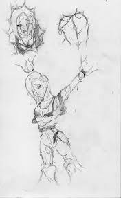 android 18 absorbed sketch 1 by absorbercell on deviantart