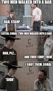 Walking Dead Rick Meme - the walking dead rick coral imgflip
