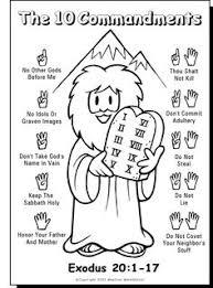 10 commandments color sheet u2026 pinteres u2026