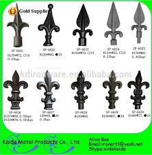 ornamental wrought iron spearhead gate finials wholesale buy