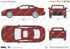 2016 lexus rc 200t coupe the blueprints com vector drawing lexus rc 200t