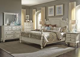 Country Bed Sets Liberty Furniture High Country 4 Poster Bedroom Set In White